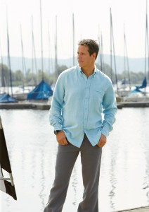 Herren-Hemd tailliert 100% Hanf