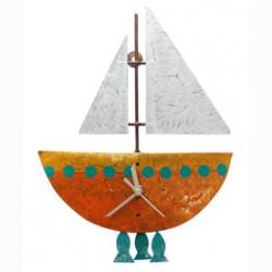 """Pendeluhr """"Fischerboot"""", orange"""