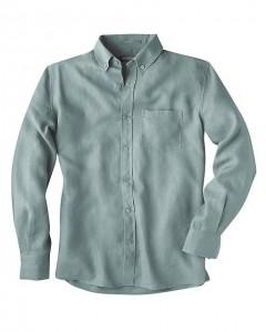 Herren-Hemd tailliert 100% Hanf, Farbe: petrol, Größe: XXL